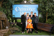 Marc Foster, Hayley Atwell, Bronte Carmichael, Jim Cummings, Simon Farnaby and Ewan McGregor attend the European Premiere of Disney's 'Christopher Robin' at BFI Southbank on August 4, 2018 in London, England.