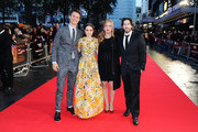 Ansel Elgort, Kaitlyn Dever, Producer Helen Estabrook and Director Jason Reitman attend the European Premiere of Paramount Pictures 'Men, Women & Children' at Odeon Covent Garden on October 9, 2014 in London, England.
