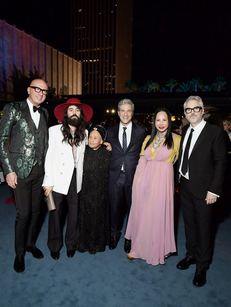 2019 LACMA Art And Film Gala Honoring Betye Saar And Alfonso Cuarón - Inside [event,formal wear,fashion,suit,fun,fashion design,tuxedo,betye saar,michael govan,eva chow,alfonso cuar\u00f3n,ceo,alessandro michele,l-r,lacma,gucci,lacma art film gala]