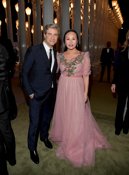 2016 LACMA Art + Film Gala Honoring Robert Irwin and Kathryn Bigelow Presented by Gucci - Inside [lacma art film gala,formal wear,dress,event,gown,fashion,suit,pink,haute couture,ceremony,carpet,kathryn bigelow,robert irwin,wallis annenberg,ceo,eva chow,michael govan,lacma,gucci,l]