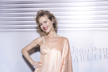 Eva Herzigova Jean-Paul Gaultier - 50th Birthday Cocktail And Party - Photocall