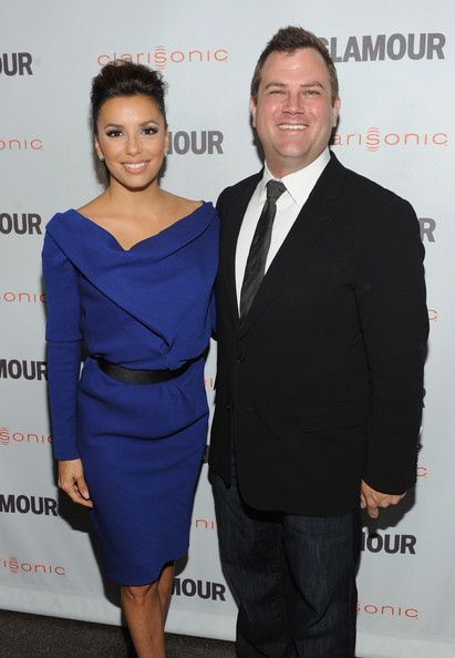 Eva Longoria Glamour Reel Moments Director Eva Longoria (L) and Vice President at Clarisonic Chris Payne attend the 2011 Glamour Reel Moments premiere presented by Clarisonic held at the Directors Guild Of America on October 24, 2011 in West Hollywood, California.