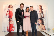 Guests attend the Eva Mendes Holiday Collection launch at New York & Company on December 3, 2017 in Snellville, Georgia.