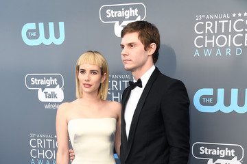 Evan Peters Emma Roberts The 23rd Annual Critics' Choice Awards - Arrivals
