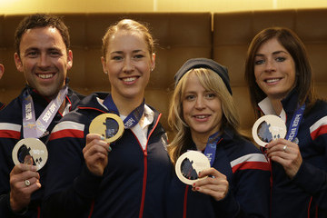 Eve Muirhead Team GB Welcome Home Press Conference