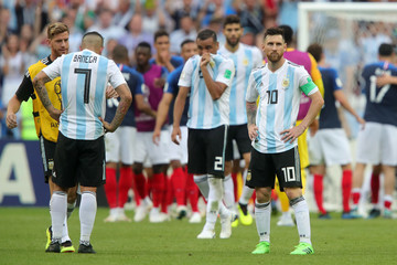 Ever Banega France vs. Argentina: Round Of 16 - 2018 FIFA World Cup Russia