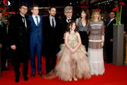 Producer Gian Piero Ringel, actors Robert Naylor, James Franco, director Wim Wenders, actresses Charlotte Gainsbourg, Marie Josee Croze and Lilah Fitzgerald (front) attend the 'Every Thing Will Be Fine' premiere during the 65th Berlinale International Film Festival at Berlinale Palace on February 10, 2015 in Berlin, Germany.