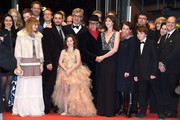 (3rd-L-R) Robert Naylor, Marie Josee Croze, guest, Bjorn Olaf Johannesse, James Franco, guest, guest, Lilah Fitzgerald, Wim Wenders, Dieter Kosslick, guest and Charlotte Gainsbourg attend the 'Every Thing Will Be Fine' premiere during the 65th Berlinale International Film Festival at Berlinale Palace on February 10, 2015 in Berlin, Germany.