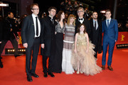 Screenwriter Bjorn Olaf Johannessen, producer Gian Piero Ringel, actresses Charlotte Gainsbourg, Marie Josee Croze, director Wim Wenders and actors James Franco, Robert Naylor and Lilah Fitzgerald (front) attend the 'Every Thing Will Be Fine' premiere during the 65th Berlinale International Film Festival at Berlinale Palace on February 10, 2015 in Berlin, Germany.