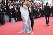 """Romee Strijd and Fawaz Gruosi attend the screening of """"Everybody Knows (Todos Lo Saben)"""" and the opening gala during the 71st annual Cannes Film Festival at Palais des Festivals on May 8, 2018 in Cannes, France."""