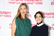 Maria Sharapova and Leandra Cohen attend the Evian & Virgil Abloh Collaboration party at Milk Studios on February 10, 2020 in New York City.