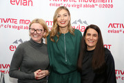 Maria Sharapova and guests attend the Evian & Virgil Abloh Collaboration party at Milk Studios on February 10, 2020 in New York City.
