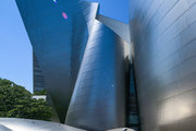 The Walt Disney Concert Hall on Grand Avenue on July 25, 2017 in Los Angeles, California.