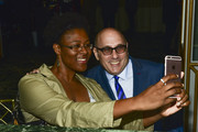 Actor Willie Garson (R) takes selfie with fan at the Extraordinary Families 3rd annual Awards Gala at the Beverly Wilshire Four Seasons Hotel on October 24, 2018 in Beverly Hills, California.