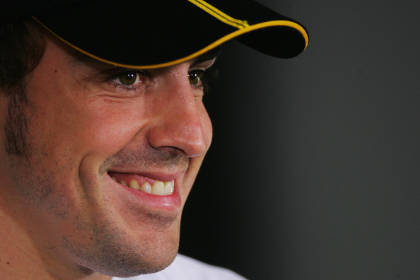 Fernando Alonso of Spain and Renault attends the drivers' press conference during previews to the Abu Dhabi Formula One Grand Prix at the Yas Marina Circuit on October 29, 2009 in Abu Dhabi, United Arab Emirates.
