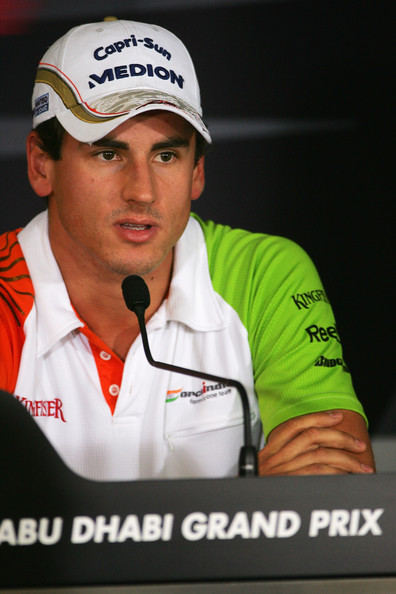 Adrian Sutil of Germany and Force India attends the drivers press conference during previews to the Abu Dhabi Formula One Grand Prix at the Yas Marina Circuit on October 29, 2009 in Abu Dhabi, United Arab Emirates.