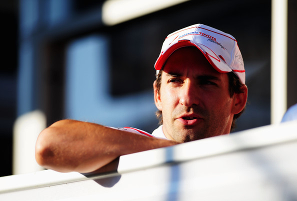 Timo Glock of Germany and Toyota is seen in the paddock following qualifying for the Belgian Grand Prix at the Circuit of Spa Francorchamps on August 29, 2009 in Spa Francorchamps, Belgium.