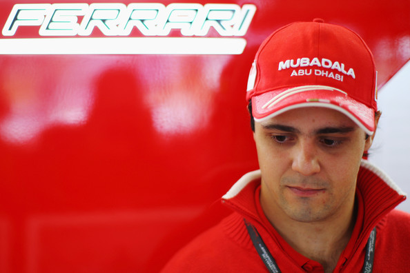Felipe Massa of Brazil and Ferrari is seen during the rain delayed final practice session prior to qualifying for the Brazilian Formula One Grand Prix at the Interlagos Circuit on October 17, 2009 in Sao Paulo, Brazil.