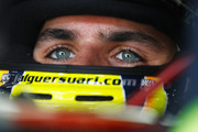 Jaime Alguersuari of Spain and Scuderia Toro Rosso prepares to drive during the final practice session prior to qualifying for the Brazilian Formula One Grand Prix at the Autodromo Jose Carlos Pace on November 26, 2011 in Sao Paulo, Brazil.