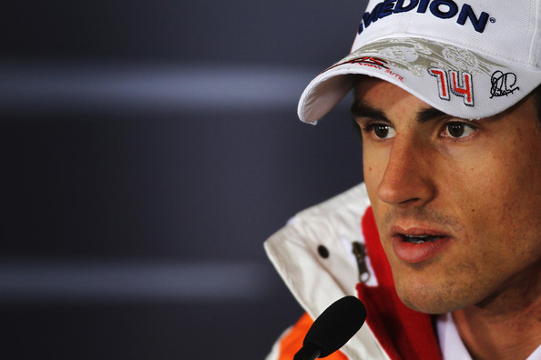 Adrian Sutil of Germany and Force India attends the drivers press conference during previews to the Chinese Formula One Grand Prix at the Shanghai International Circuit on April 15, 2010 in Shanghai, China.