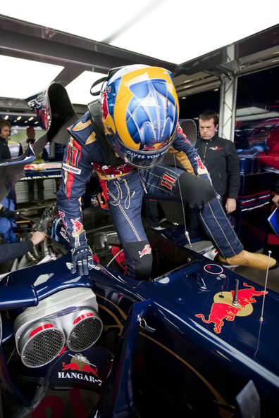 Sebastien Bourdais of France and Scuderia Toro Rosso is seen during practice for the German Formula One Grand Prix at Nurburgring on July 10, 2009 in Nurburg, Germany.