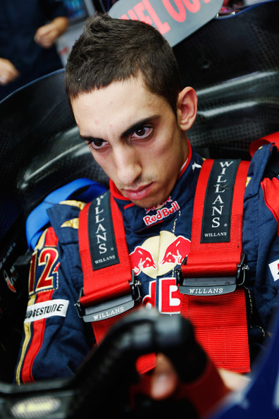 Sebastien Buemi of Switzerland and Scuderia Toro Rosso is seen during practice for the British Formula One Grand Prix at Silverstone on June 19, 2009 in Northampton, England.