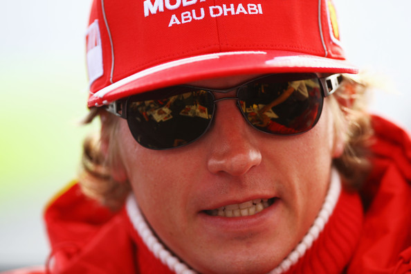 Kimi Raikkonen of Finland and Ferrari is seen in the paddock following qualifying for the British Formula One Grand Prix at Silverstone on June 20, 2009 in Northampton, England.