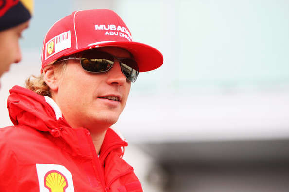 Kimi Raikkonen of Finland and Ferrari is seen in the paddock before the German Formula One Grand Prix at Nurburgring on July 12, 2009 in Nurburg, Germany.