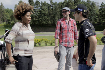 Bruno Senna F1 Rocks in Sao Paulo - TV Shoot