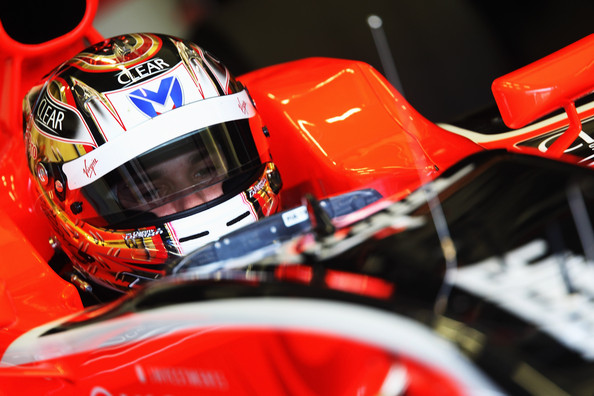 Timo Glock of Germany and Virgin GP prepares to drive during winter testing at the at the Circuito De Jerez on February 11, 2010 in Jerez de la Frontera, Spain.
