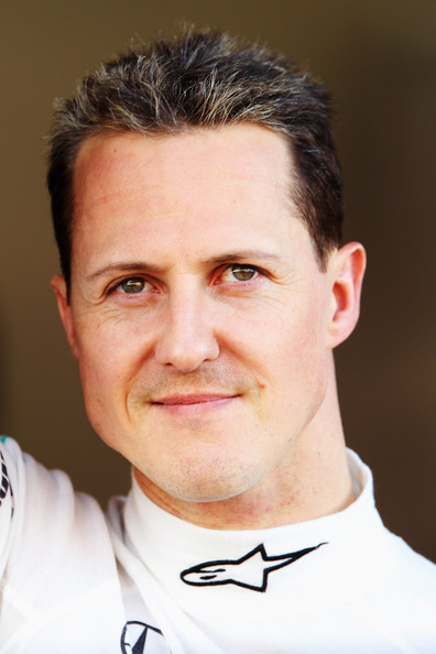Michael Schumacher of Germany and Mercedes GP is seen in his team garage during Formula One winter testing at the Circuit De Catalunya on February 26, 2010 in Barcelona, Spain.