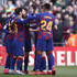 Antoine Griezmann Junior Firpo Photos - Antoine Griezmann of FC Barcelona with teammates after scoring his team's first goal during the La Liga match between FC Barcelona and Getafe CF at Camp Nou on February 15, 2020 in Barcelona, Spain. - FC Barcelona v Getafe CF  - La Liga