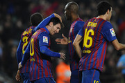 Lionel Messi Eric Abidal Photos Photo