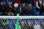goalkeeper Juan Pablo of Tel Aviv makes a save  during the UEFA Champions League qualifying round play off first leg match between FC Basel and Maccabi Tel Aviv at St. Jakob-Park on August 19, 2015 in Basel, Switzerland.