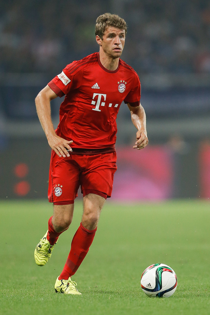 thomas mueller in fc bayern muenchen v fc internazionale friendly zimbio. Black Bedroom Furniture Sets. Home Design Ideas