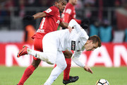 Fernando (L) FC Spartak Moscow vies for the ball with Dmitri Kabutov of FC SKA Khabarovsk during the Russian Premier League match between FC Spartak Moscow and FC SKA Khabarovsk at Otkrytie Arena stadium on March 11, 2018 in Moscow, Russia.