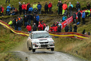 Tony Jardine and Amy Williams of Great Britain in action during the sweet lamb stage of the FIA World Rally Championship Great Britain on November 15, 2013 in Llanidloes, Wales.