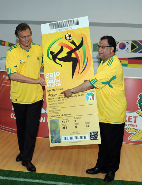 FIFA 2010 World Cup Ticket Presentation. In This Photo: Jerome Valcke,