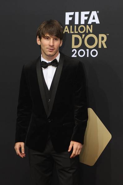 Lionel Messi of Argentina arrives at the FIFA Ballon d'or Gala at the Zurich Kongresshaus on January 10, 2011 in Zurich, Switzerland.