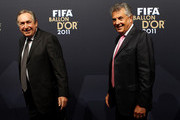 Gerard Houllier (L) and David Dean during the red carpet arrivals for the FIFA Ballon d'Or Gala 2011 on January 9, 2012 in Zurich, Switzerland.