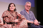 Barbie Ferreira (L) and Eric Dane attend the premiere of HBO's Euphoria during the ATX Television Festival at the Paramount Theatre on May 6, 2019 in Austin, Texas.