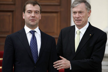 Dmitry Medvedev (FILE) Former German President Horst Koehler Turns 70