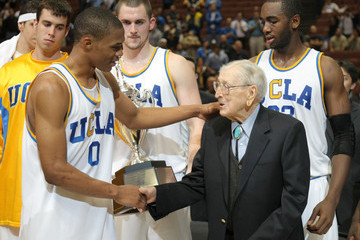 Russell Westbrook (FILE) John Wooden Dies At Age 99