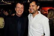 Actors John Noble (L) and Joshua Jackson pose at the FOX All-Star party at Gladstones on August 5, 2011 in Pacific Palisades, California.