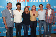 """(L-R) Kevin Abbott, Jordan Masterson, Nancy Travis, Amanda Fuller, Christoph Sanders and Matt Berry attend FOX Celebrating the premiere of """"Last Man Standing"""" with the """"Last Fan Standing"""" marathon event at Hollywood and Highland on September 20, 2018 in Hollywood, California."""