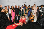 """(L-R) Jason A. Rodriguez, Indya Moore, Eric Schrier, Janet Mock, Brad Simpson, Dyllón Burnside, Alexis Martin Woodall, Steven Canals, Hailie Sahar, Dominique Jackson, Angel Bismark Curiel, Mj Rodriguez, Ryan Jamaal Swain, guest, Angelica Ross, Our Lady J, Sherry Marsh, and Billy Porter attend FX Network's """"Pose"""" season 2 premiere on June 05, 2019 in New York City."""