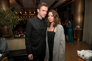Dan Stevens (L) and Aubrey Plaza attend FX Networks celebration of their Emmy nominees in partnership with Vanity Fair at Craft on September 16, 2017 in Century City, California.