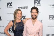 Mia Swier and Darren Criss attends FX Networks celebration of their Emmy nominees in partnership with Vanity Fair at Craft on September 16, 2018 in Century City, California.