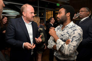 Louis C.K. (L) and Donald Glover attend FX Networks celebration of their Emmy nominees in partnership with Vanity Fair at Craft on September 16, 2017 in Century City, California.