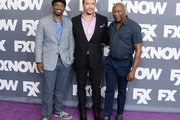 (L-R) Writer Joe Robert Cole, producer D.V. DeVincentis and director John Singleton attend the FX Networks TCA 2016 Summer Press Tour on August 9, 2016 in Beverly Hills, California.